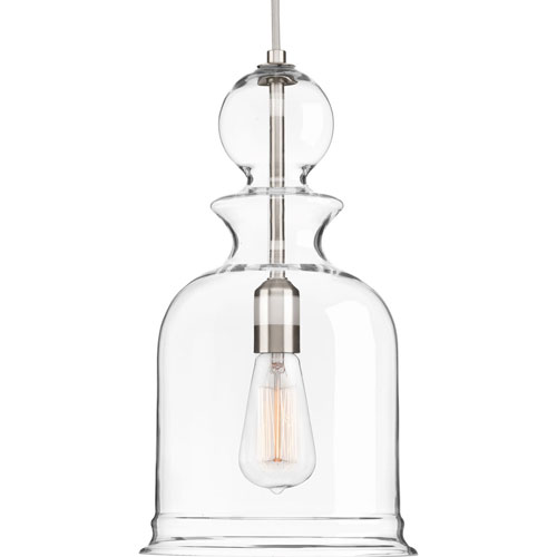 Staunton Brushed Nickel 16-Inch One-Light Mini Pendant