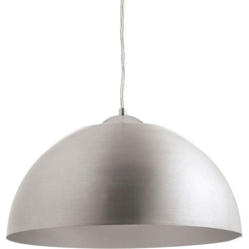 Dome Satin Aluminum LED 16-Inch One-Light Pendant