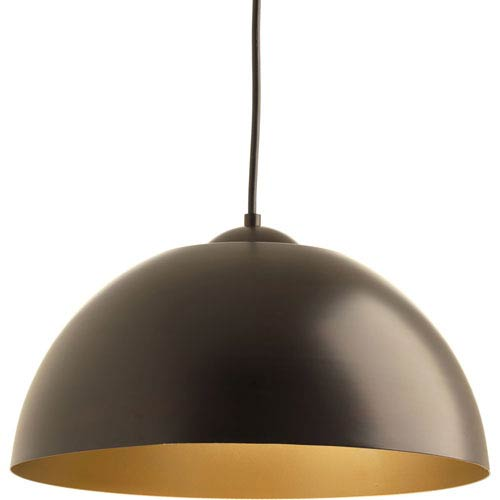 Dome Antique Bronze LED 16-Inch One-Light Pendant