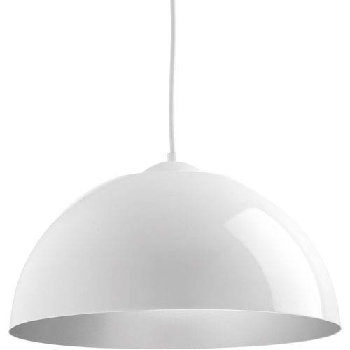 Dome White LED 16-Inch One-Light Pendant