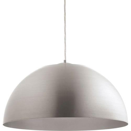 Dome Satin Aluminum LED 22-Inch One-Light Pendant