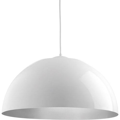 Dome White LED 22-Inch One-Light Pendant