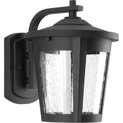 Progress Lighting East Haven Black LED Eight-Inch One-Light Outdoor Wall Sconce