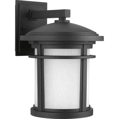 Progress Lighting Wish Black Nine-Inch One-Light Outdoor Wall Sconce