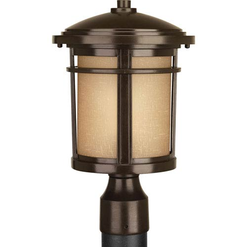 Wish Antique Bronze LED One-Light Outdoor Post Light