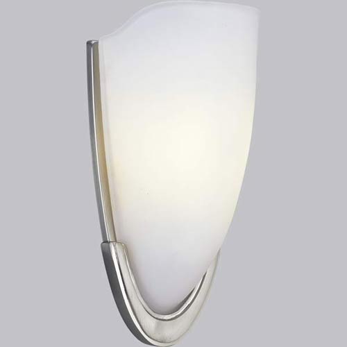 P7087-09:  Brushed Nickel Etched One-Light Sconce