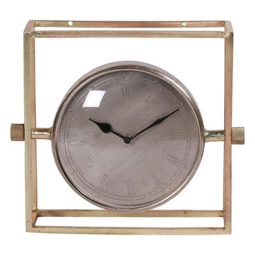 Attirant Ren Wil Belfield Brass Tabletop Clock