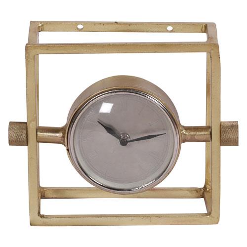 Ren Wil Danforth Brass Tabletop Clock