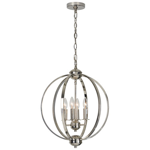 Ren-Wil Terry Polished Nickel Pendant