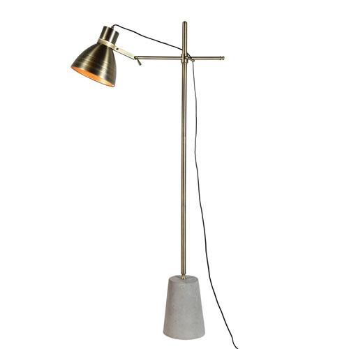 Ren-Wil Harrow Cement and Metal Floor Lamp