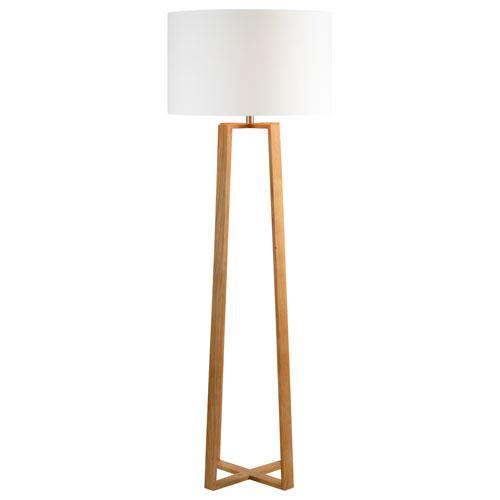 Cranston Natural Wood Floor Lamp