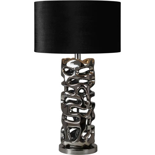 Chrome 28-Inch One Light Table Lamp