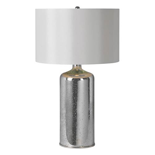 Rita Silver Plated 26-Inch One Light Table Lamp