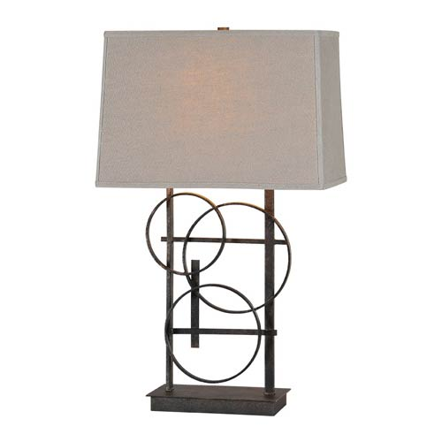 Ren-Wil Aria Antique Bronze 26-Inch One Light Table Lamp