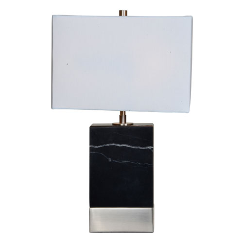 Heme Black and Satin Nickel Table Lamp