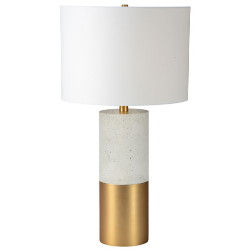 Liberty Cement and Satin Brass Table Lamp