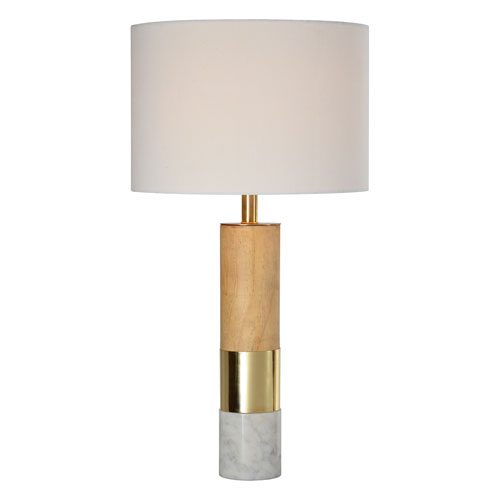 Vermont White and Gold Table Lamp