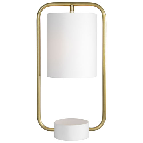 Sinclair Brass and Cream Table Lamp