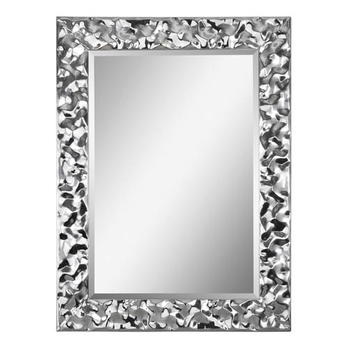 Ren-Wil Couture Chrome 30-Inch Rectangular Mirror