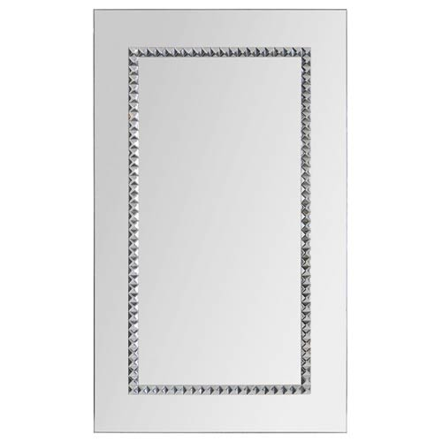 Ren-Wil Embedded Jewels Chrome 24-Inch Rectangular Mirror