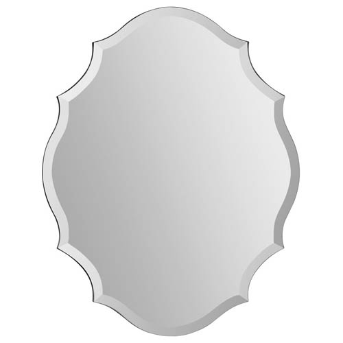 Ren-Wil Emma All Glass 28-Inch Frameless Mirror