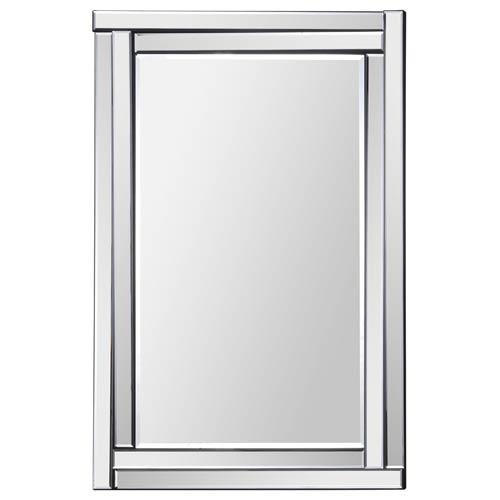 Ava All Glass 35-Inch Rectangular Mirror