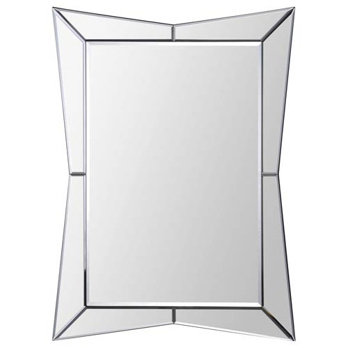 Ren-Wil Merritt All Glass 32-Inch Rectangular Mirror