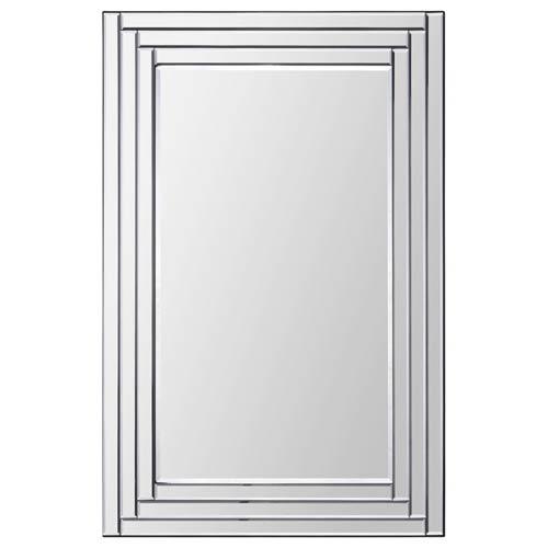 Ren-Wil Edessa All Glass 36-Inch Rectangular Mirror