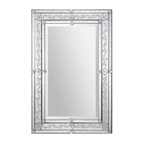 Vincenzo All Glass 36-Inch Rectangular Mirror