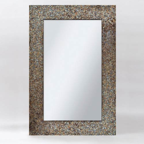 Ren-Wil Amber Mosaic Black Mosaic Rectangular Mirror