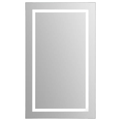 Clear Glass 40-Inch LED Rectangular Mirror
