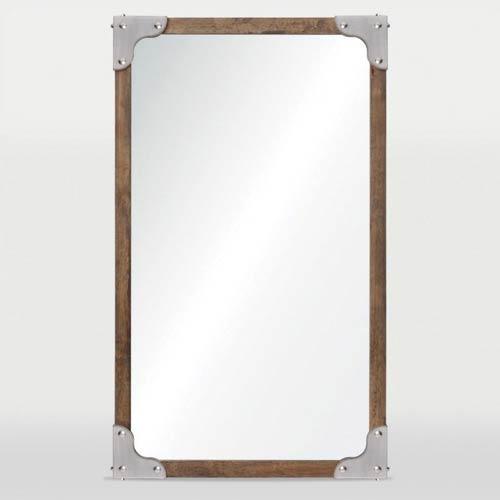 Advocate Satin Nickel Rectangular Mirror