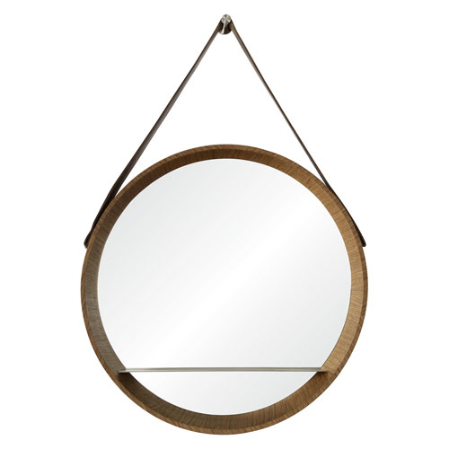 Ren-Wil Lenola Veneer and Nickel Round Mirror