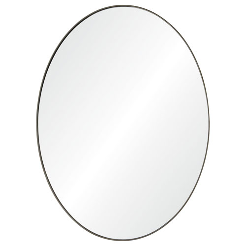 Ren-Wil Newport Brushed Silver Oval Mirror