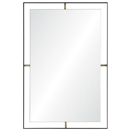 Heston Matte Black Rectangular Mirror
