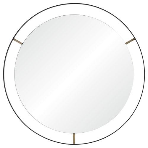 Jericho Matte Black Round Mirror