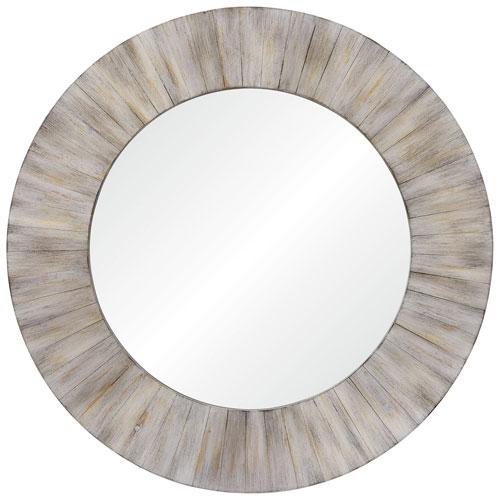 Sheldon Handpainted Wood Round Mirror