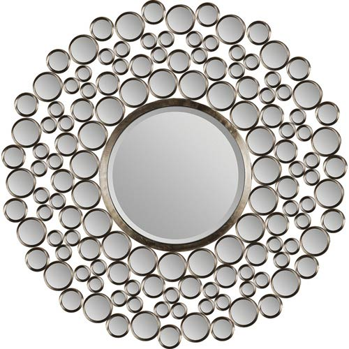 Ren Wil Andromeda Satin Nickel 42 Inch Round Mirror