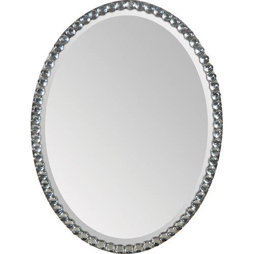 Rhiannon All Glass 24-Inch Oval Mirror