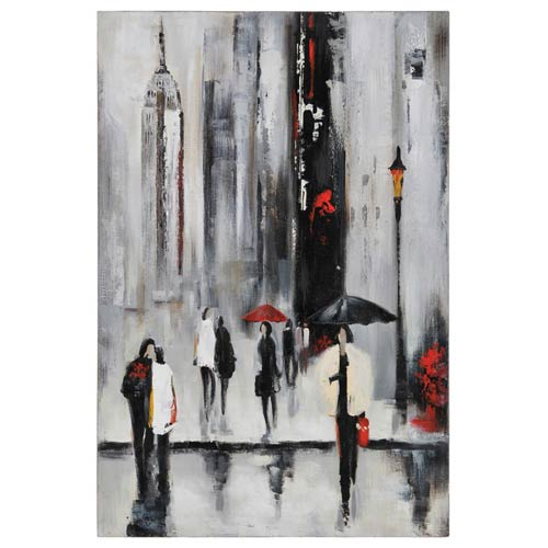 Ren-Wil Bustling City I by Dominic Lecavalier: 24 x 36 Wall Art