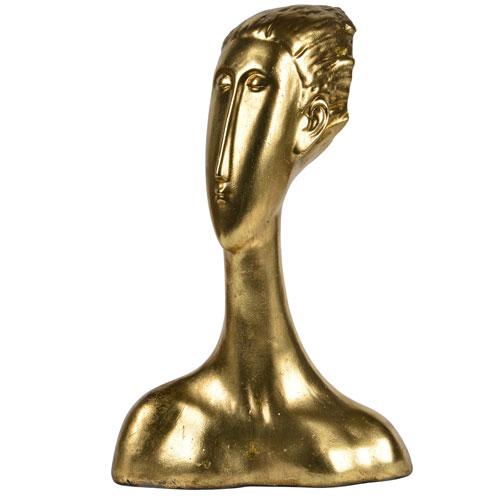 Ren-Wil Antique Gold Drost Statue