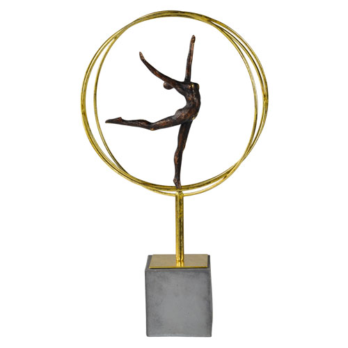 Ren-Wil Gold and Grey Cirque Statue