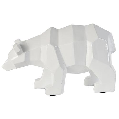 White Ursus Statue