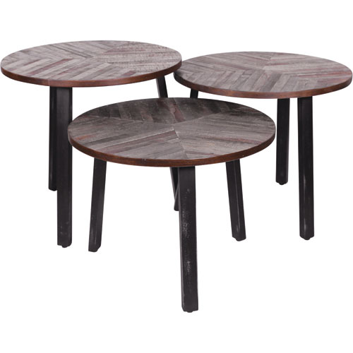 Ren-Wil Three Leaves End Tables, Set of Three
