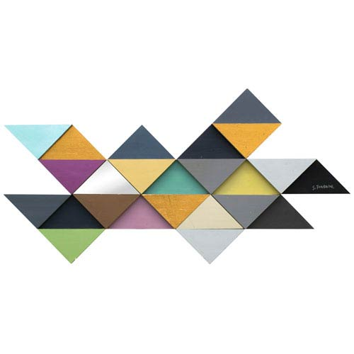 Tremulous Triangle By Stephane: 29 x 56-Inch Wall Décor