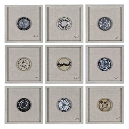Ren-Wil Buttons By Glay: 16-Inch Wall Décor