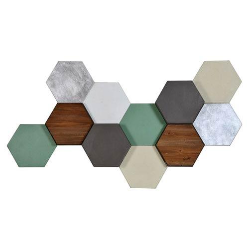 Hexa Pastel By Glay: 50 x 27-Inch Wall Décor