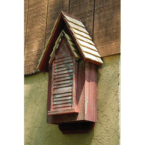 Victorian Red Whitewash Bat House