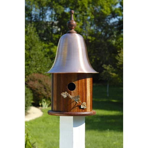 Heartwood Ivy Mahogany Wood With Copper Roof Birdhouse