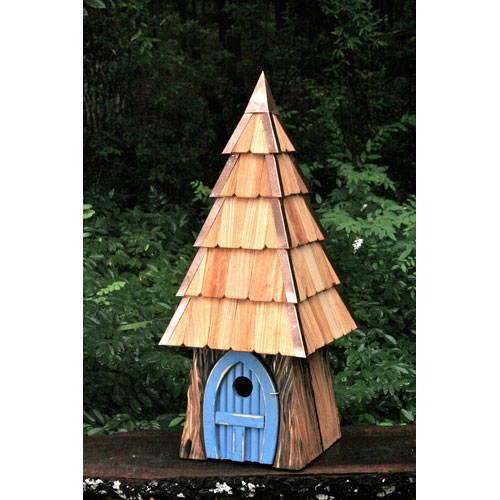 Heartwood Lord of the Wing Bird House - Blue